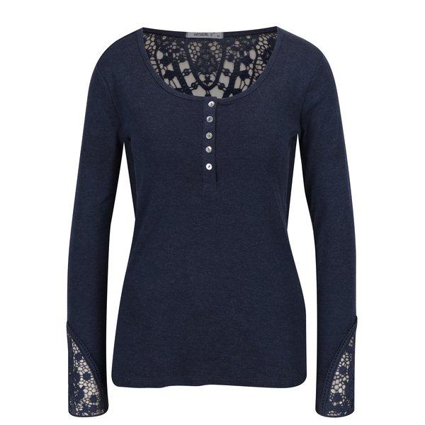 Bluza bleumarin melanj cu detalii din dantela Haily's Rea