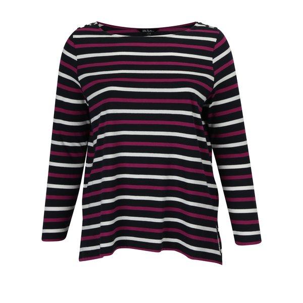 Bluza bleumarin cu dungi roz&crem Ulla Popken