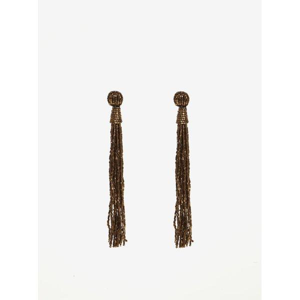 Cercei lungi bronz cu margele Pieces Veronica