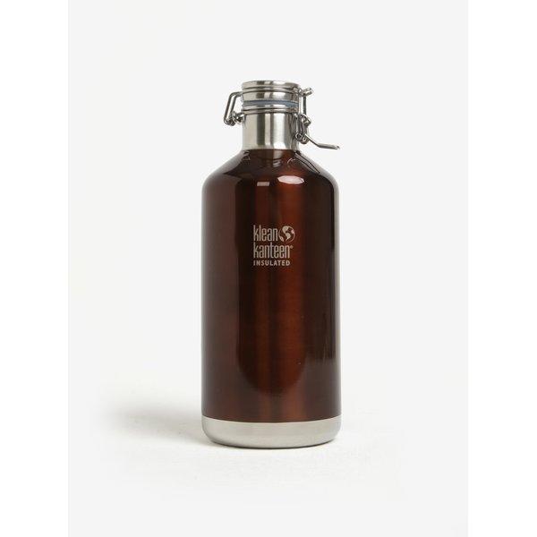Sticla de apa maro glossy - Klean Kanteen Growler 1900 ml