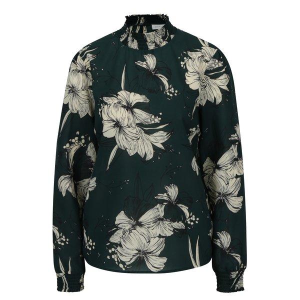 Bluza verde inchis cu print floral - VILA Floppy
