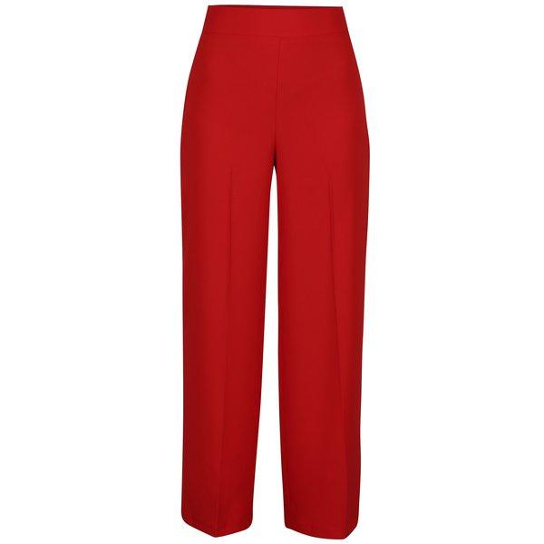 Pantaloni rosii evazati cu talie inalta Miss Selfridge