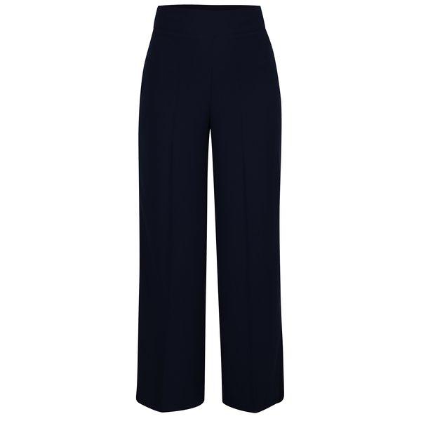 Pantaloni bleumarin evazati cu talie inalta Miss Selfridge