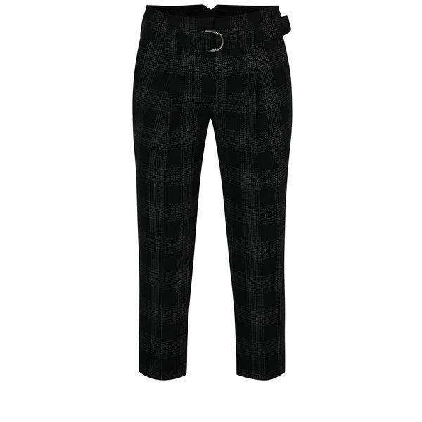 Pantaloni negri in caoruri cu cordon in talie Dorothy Perkins