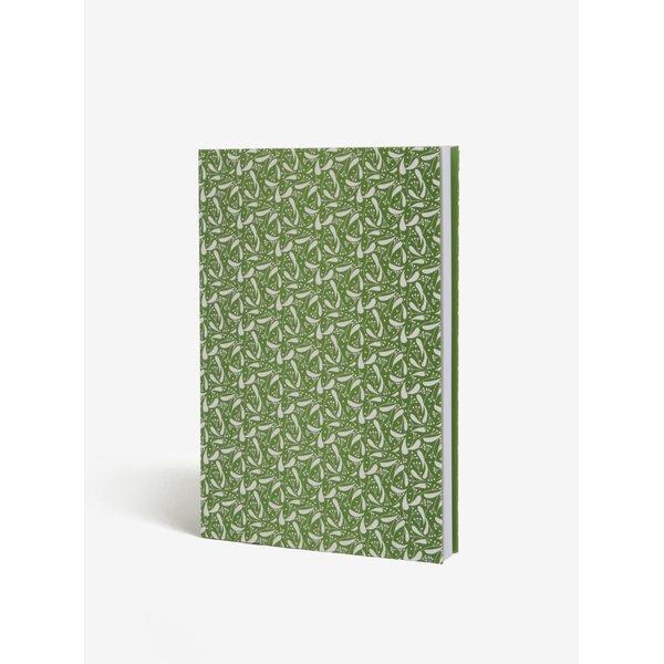 Carnet verde cu foaie velina si coperta - Lipa A5