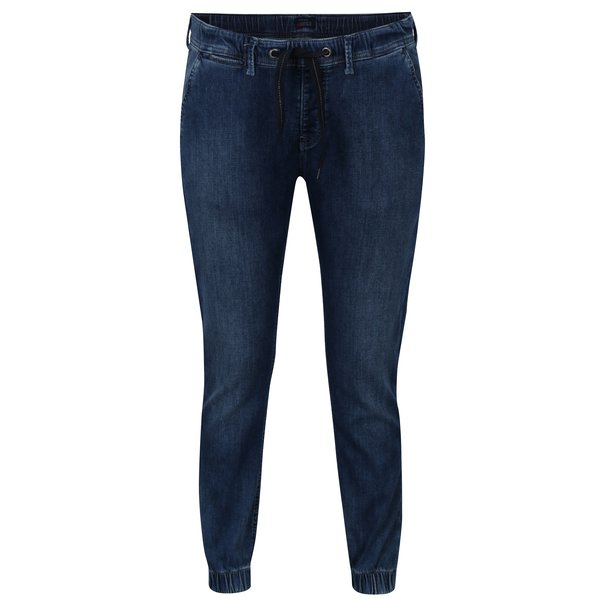 Jeggings albastri din denim cu buzunare - Pepe Jeans Cosie