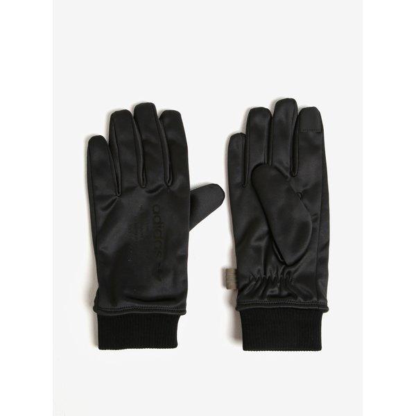 Manusi negre cu blana artificiala pentru barbati adidas Originals
