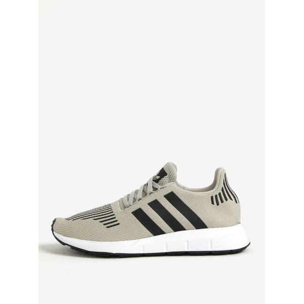 Pantofi sport gri deschis din material textil adidas Originals Swift Run