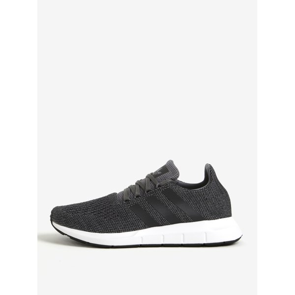 Pantofi sport gri inchis din material textil adidas Originals Swift Run