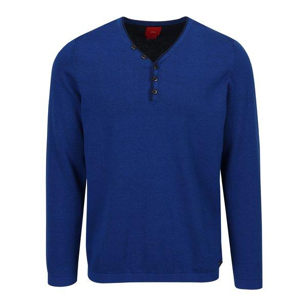 Pulover albastru cu decolteu anchior pentru barbati s.Oliver