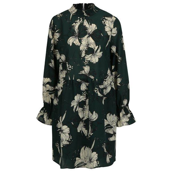 Rochie verde cu print floral si maneci clopot - VILA Floppy