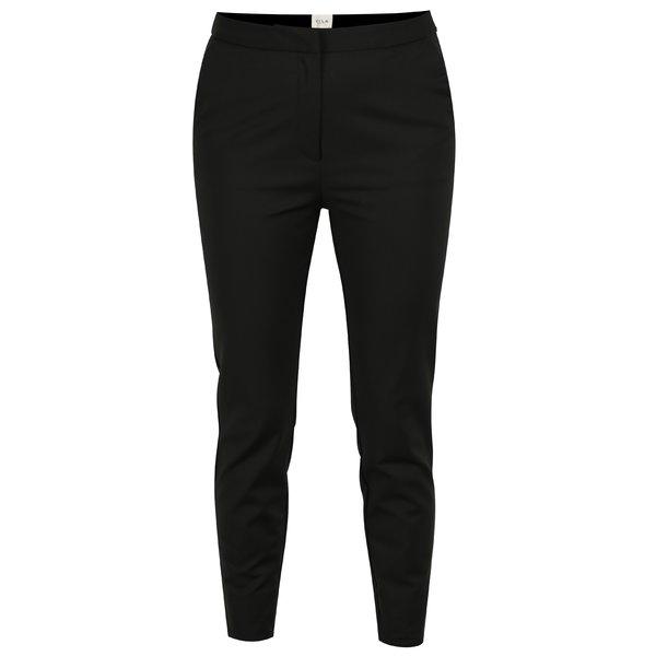 Pantaloni slim fit negri cu fermoare decorative - VILA Killa