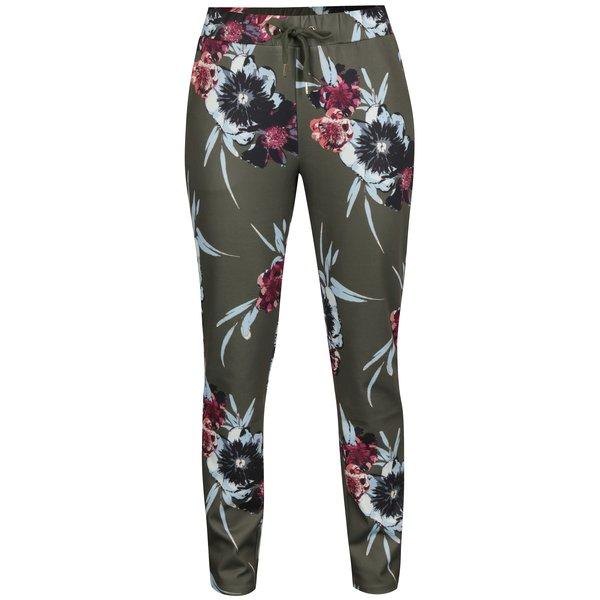 Pantaloni verzi cu print floral - VILA Blouson