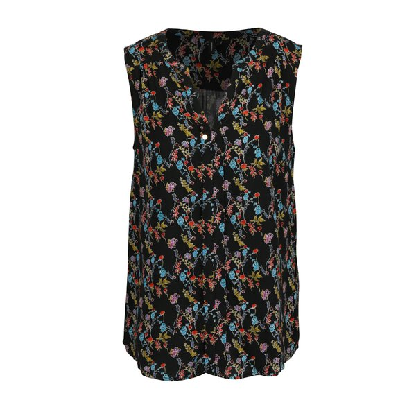 Bluza neagra cu print floral - VERO MODA Mano