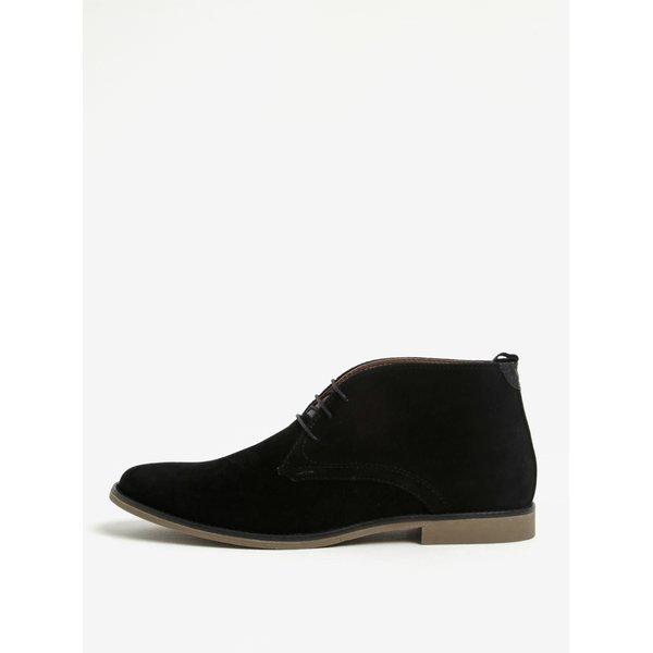 Ghete chukka negre cu aspect de piele intoarsa Burton Menswear London