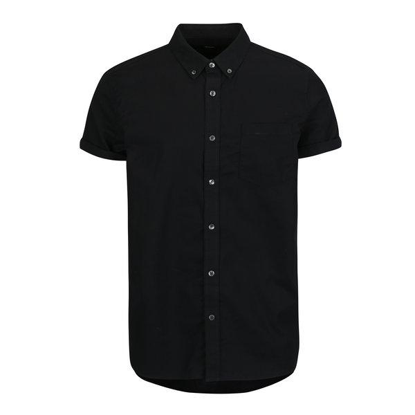Camasa neagra cu guler buttons-down Burton Menswear London