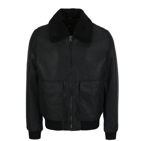Jacheta neagra din amestec de lana Burton Menswear London