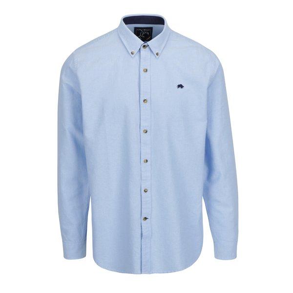 Camasa bleu cu guler buttons-down si logo brodat Raging Bull