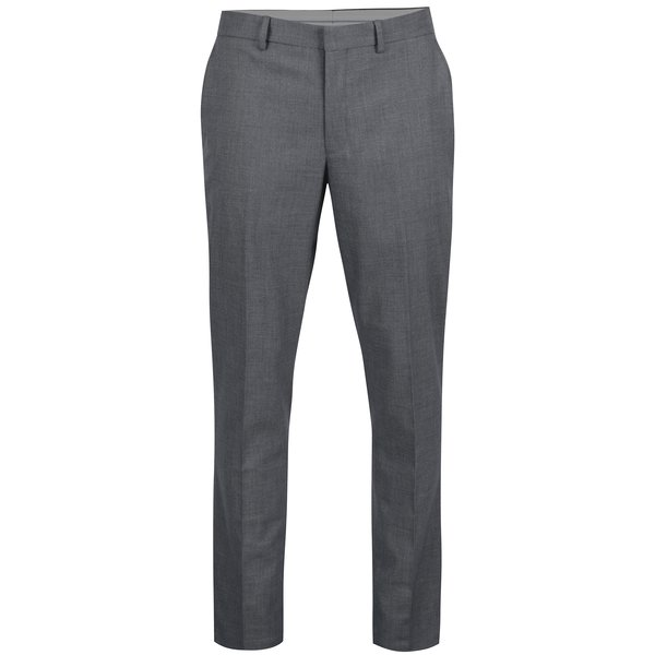 Pantaloni eleganti gri cu model geometric discret – Selected Homme Slim