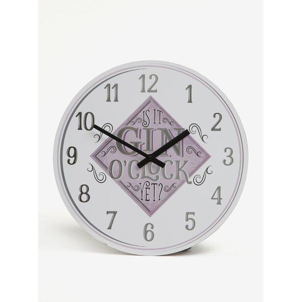 Ceas alb & roz de perete - SIFCON GIN 30x30
