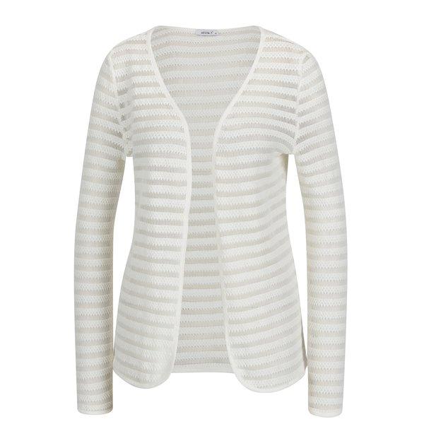 Cardigan tricotat crem cu insertii translucide - Haily´s Emma