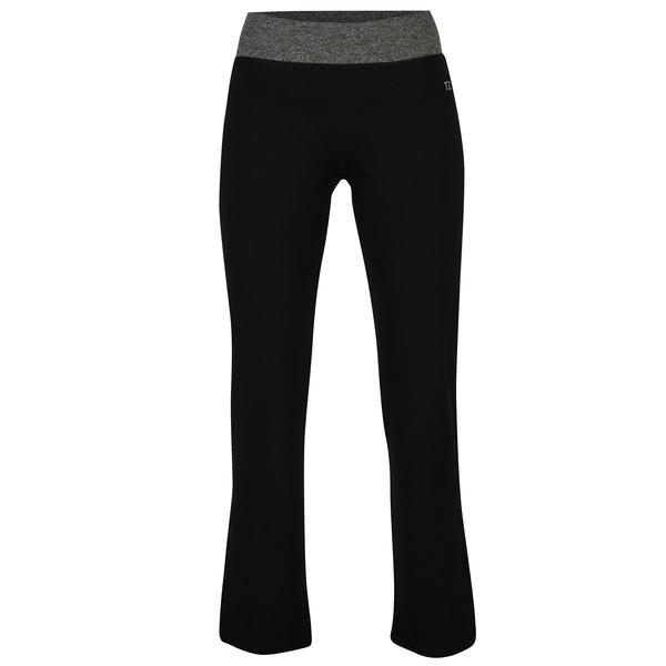 Pantaloni sport negri regular fit cu talie elastica M&Co