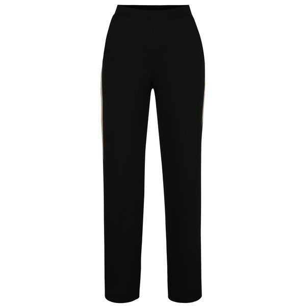 Pantaloni culottes negri cu dunga contrastanta - Miss Selfridge