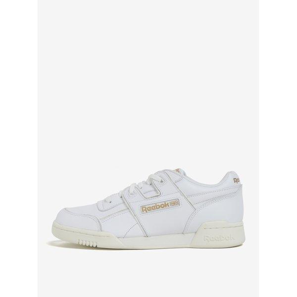 Pantofi sport albi din piele naturală pentru bărbați - Reebok Workout Plus ALR