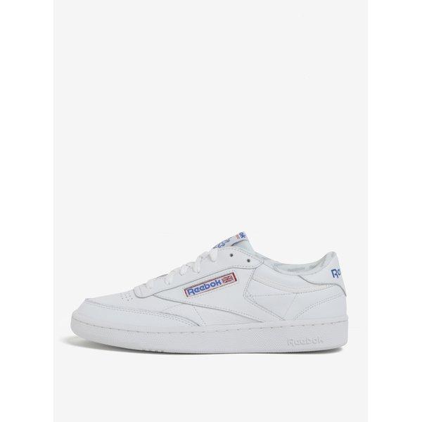 Pantofi sport albi din piele naturală pentru bărbați - Reebok CLUB C 85 SO