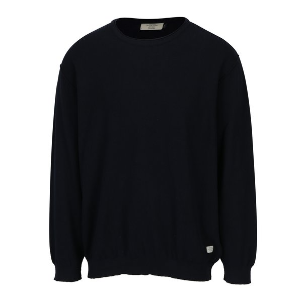 Pulover tricotat bleumarin cu model discret - Jack & Jones Nash