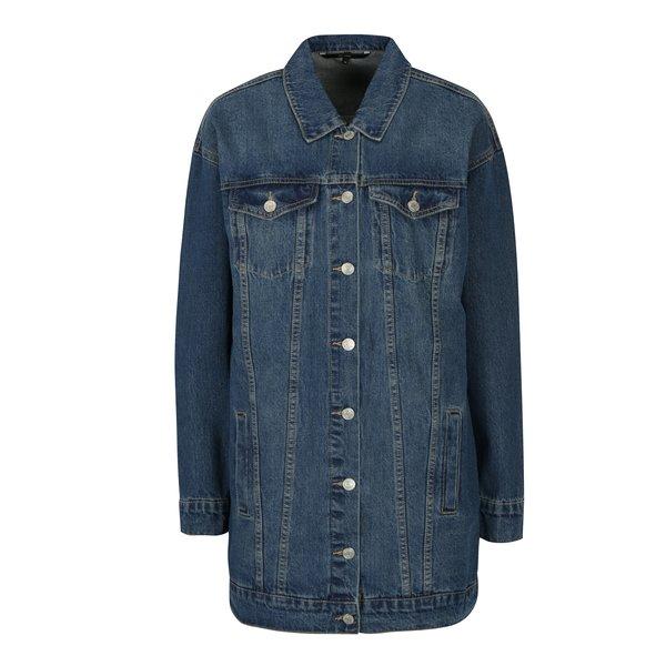 Jacheta lunga albastra din denim - VERO MODA Online