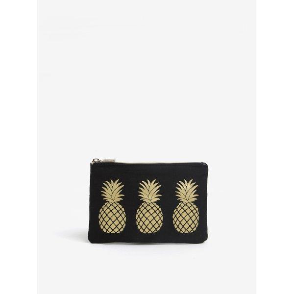 Portofel negru pentru monede cu print - Sass & Belle