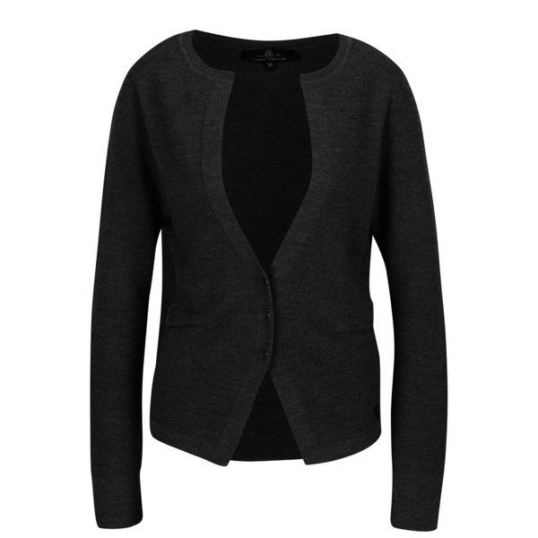 Cardigan din amestec de lana gri inchis pentru femei - Jimmy Sanders