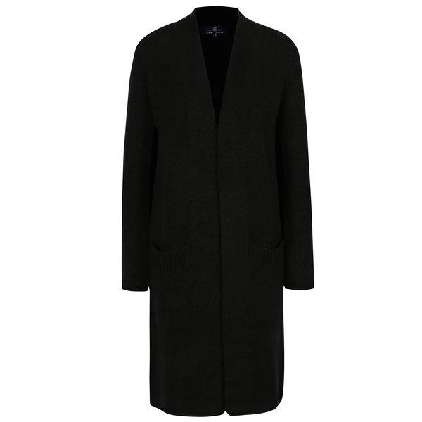 Cardigan lung negru cu buzunare pentru femei - Jimmy Sanders