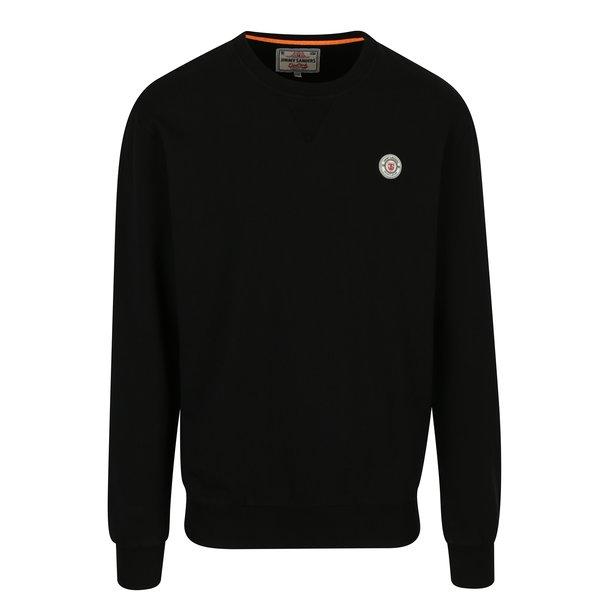 Bluza basic negru cu logo brodat pentru barbati Jimmy Sanders