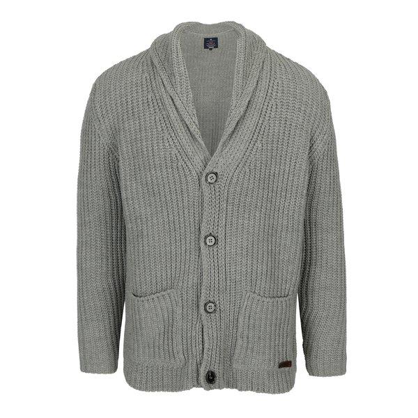 Cardigan tricotat gri pentru barbati - Jimmy Sanders
