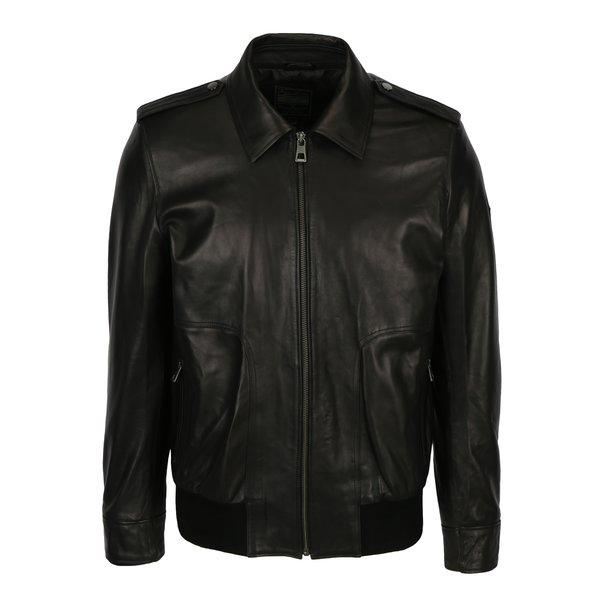 Jacheta neagra din piele naturala pentru barbati - Jimmy Sanders Armada
