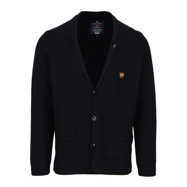 Cardigan tricotat bleumarin pentru barbati - Jimmy Sanders