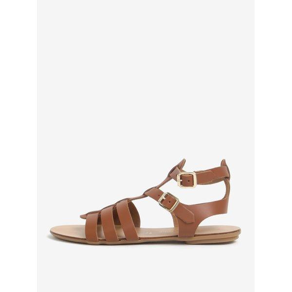 Sandale maro din piele - Dorothy Perkins