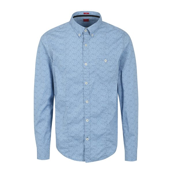 Camasa bleu cu print abstract pentru barbati - s.Oliver