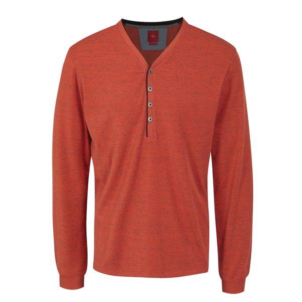 Bluza slim fit oranj pentru barbati - s.Oliver