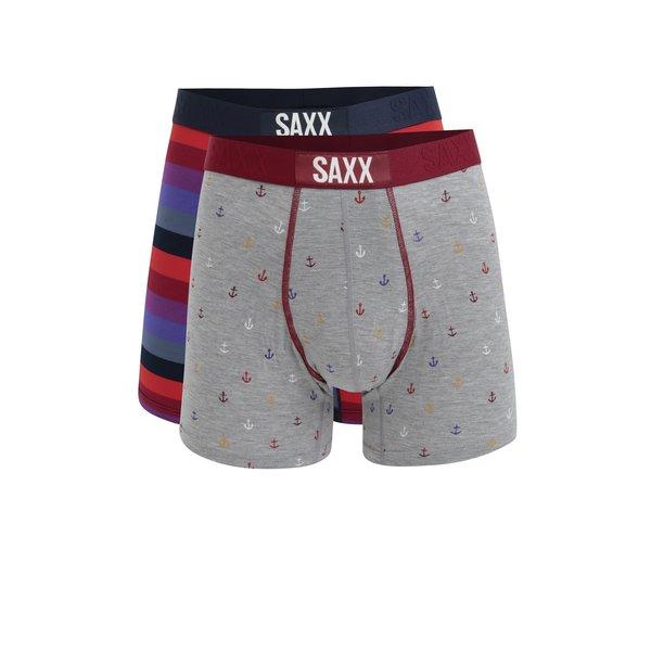 Set de 2 perechi de boxeri multicolori pentru barbati - SAXX Vibe Modern fit