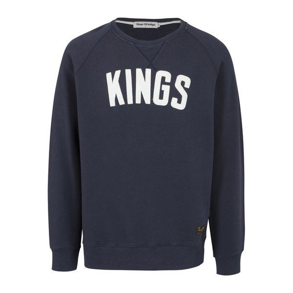 Bluza bleumarin cu logo Kings of Indigo Baldwin