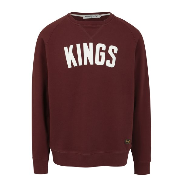 Bluza bordo cu logo Kings of Indigo Baldwin