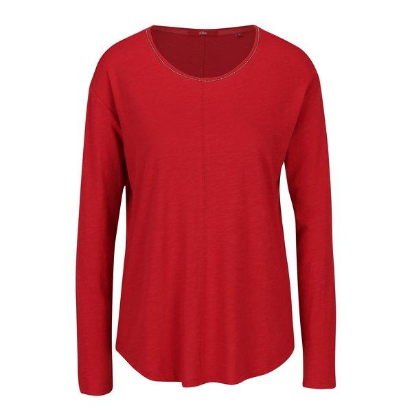 Bluza rosie cu aplicatii decorative pentru femei - s.Oliver
