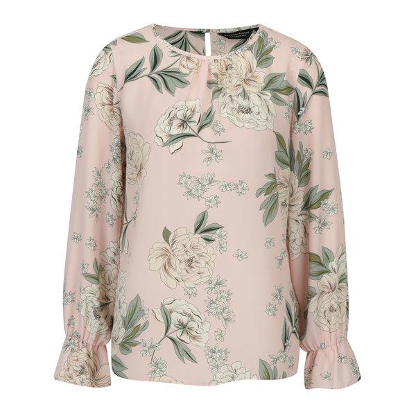 Bluza roz deschis cu print floral - Dorothy Perkins