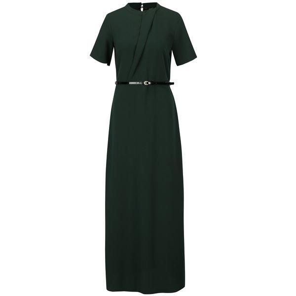Rochie lunga verde inchis cu o curea in talie – Dorothy Perkins