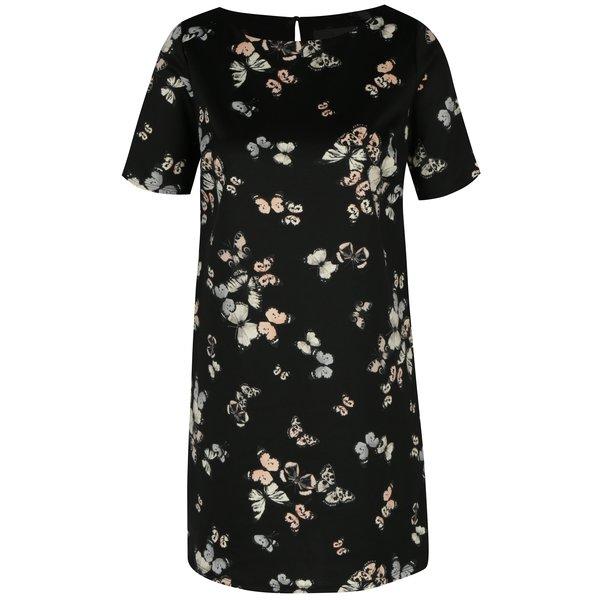 Rochie neagra cu print - Billie & Blossom Petite