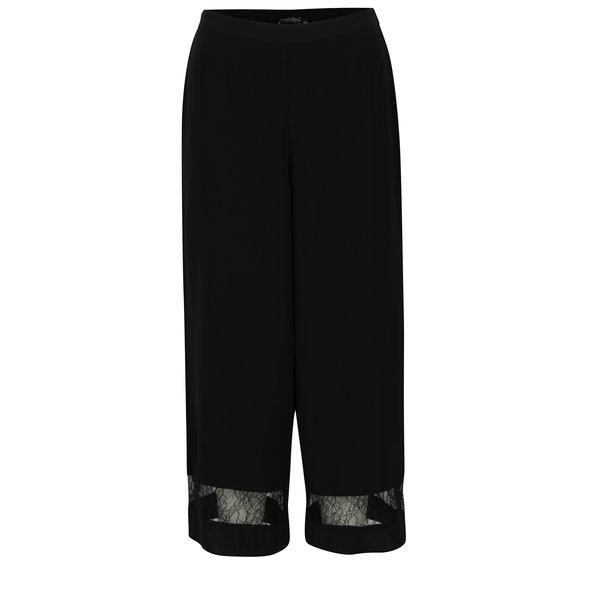 Pantaloni culotte negri cu detalii din dantela - Dorothy Perkins