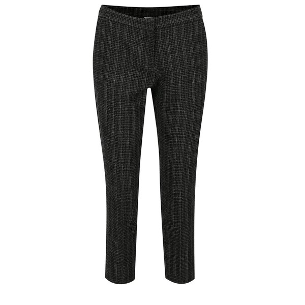 Pantaloni cropped negri in carouri Dorothy Perkins Petite